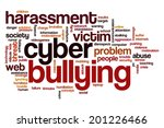 Cyber Bullying Concept Word...