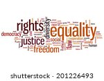 Equality Concept Word Cloud...