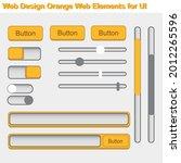 flat ui web design elements set ...