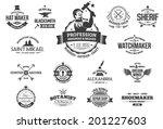 15 vintage style labels for... | Shutterstock .eps vector #201227603