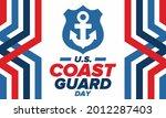 u.s. coast guard day in united...   Shutterstock .eps vector #2012287403