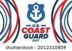 u.s. coast guard day in united...   Shutterstock .eps vector #2012310809