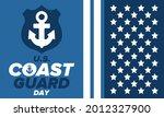 u.s. coast guard day in united...   Shutterstock .eps vector #2012327900