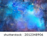 colourful painted galaxy.... | Shutterstock . vector #2012348906