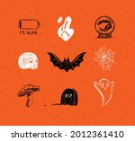 halloween scary collection...   Shutterstock .eps vector #2012361410