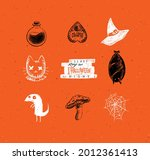 halloween scary collection... | Shutterstock .eps vector #2012361413
