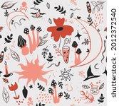 seamless pattern of mysticism... | Shutterstock .eps vector #2012372540