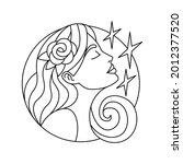 isolated virgo symbol western... | Shutterstock .eps vector #2012377520