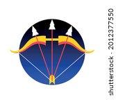 isolated sagittarius symbol... | Shutterstock .eps vector #2012377550