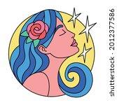isolated virgo symbol western... | Shutterstock .eps vector #2012377586