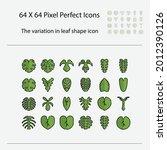 the variation of leaf shape...   Shutterstock .eps vector #2012390126