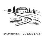 landscape of italian province...   Shutterstock .eps vector #2012391716
