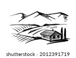 landscape of house with...   Shutterstock .eps vector #2012391719