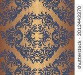 damask seamless pattern in...   Shutterstock .eps vector #2012443370