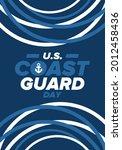 u.s. coast guard day in united...   Shutterstock .eps vector #2012458436