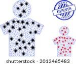 mesh polygonal boy symbols... | Shutterstock .eps vector #2012465483