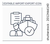 shipping agent line icon....   Shutterstock .eps vector #2012466140