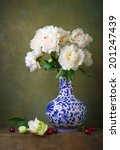 Still Life With White Peonies...