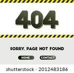 404 error. page not found.... | Shutterstock .eps vector #2012483186