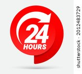 24 hours order execution or... | Shutterstock .eps vector #2012483729