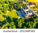 sychrov castle at sunset time...   Shutterstock . vector #2012489360