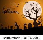 happy halloween image vector... | Shutterstock .eps vector #2012529983