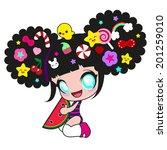 Cute Kawaii Girl With...