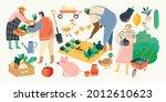eat local vector illustration... | Shutterstock .eps vector #2012610623