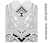 especially the maori details...   Shutterstock .eps vector #2012619509