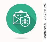 email virus threat icon. simple ...   Shutterstock .eps vector #2012641793
