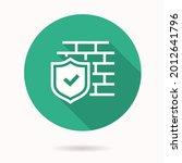 antivirus firewall icon. simple ...   Shutterstock .eps vector #2012641796