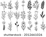 collection forest fern... | Shutterstock .eps vector #2012661026