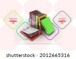3d rendering binder with... | Shutterstock . vector #2012665316