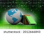 3d rendering office document... | Shutterstock . vector #2012666843