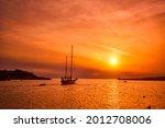 Ship Schooner Boat Sihouette In ...