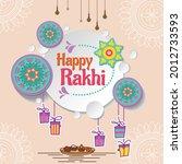 happy raksha bandhan  indian...   Shutterstock .eps vector #2012733593