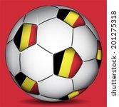 belgium soccer ball  vector | Shutterstock .eps vector #201275318