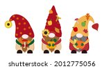 Cartoon Flat Fall Vector Gnomes ...