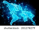 best internet concept of global ... | Shutterstock . vector #201278279