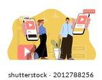 popular content concept....   Shutterstock .eps vector #2012788256