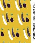 different type of eggplants...   Shutterstock .eps vector #2012805143