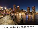 Boston Skyline By Night  ...