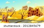 destroyed buildings after... | Shutterstock .eps vector #2012845679