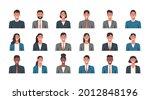 people portraits of businessmen ... | Shutterstock .eps vector #2012848196