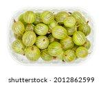 green gooseberries in a plastic ...   Shutterstock . vector #2012862599