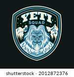 yeti squad label. t shirt... | Shutterstock .eps vector #2012872376