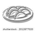 set isolated bakery with cheese ... | Shutterstock .eps vector #2012877020