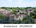 View Of A Typical English Town...