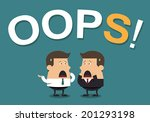 """businessmen with the word """"oops ... 