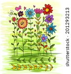 vector of flower freehand | Shutterstock .eps vector #201293213